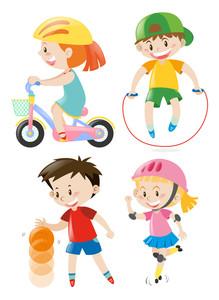 Kids exercise clipart image download Kids Exercising Clipart | Free download best Kids Exercising ... image download