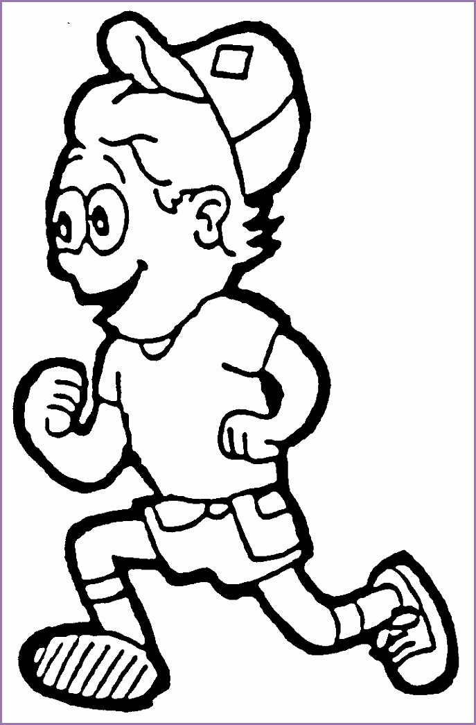 Kids exercise clipart black and white