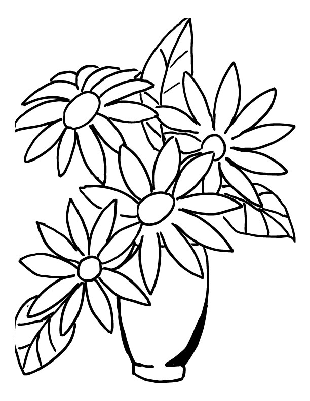 Kids flower bunch clipart black and white clip art library download Free Cartoon Bouquet Of Flowers, Download Free Clip Art ... clip art library download