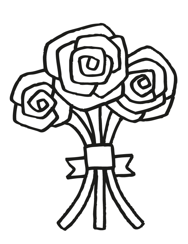 Kids flower bunch clipart black and white png free library Free Cartoon Bouquet Of Flowers, Download Free Clip Art ... png free library