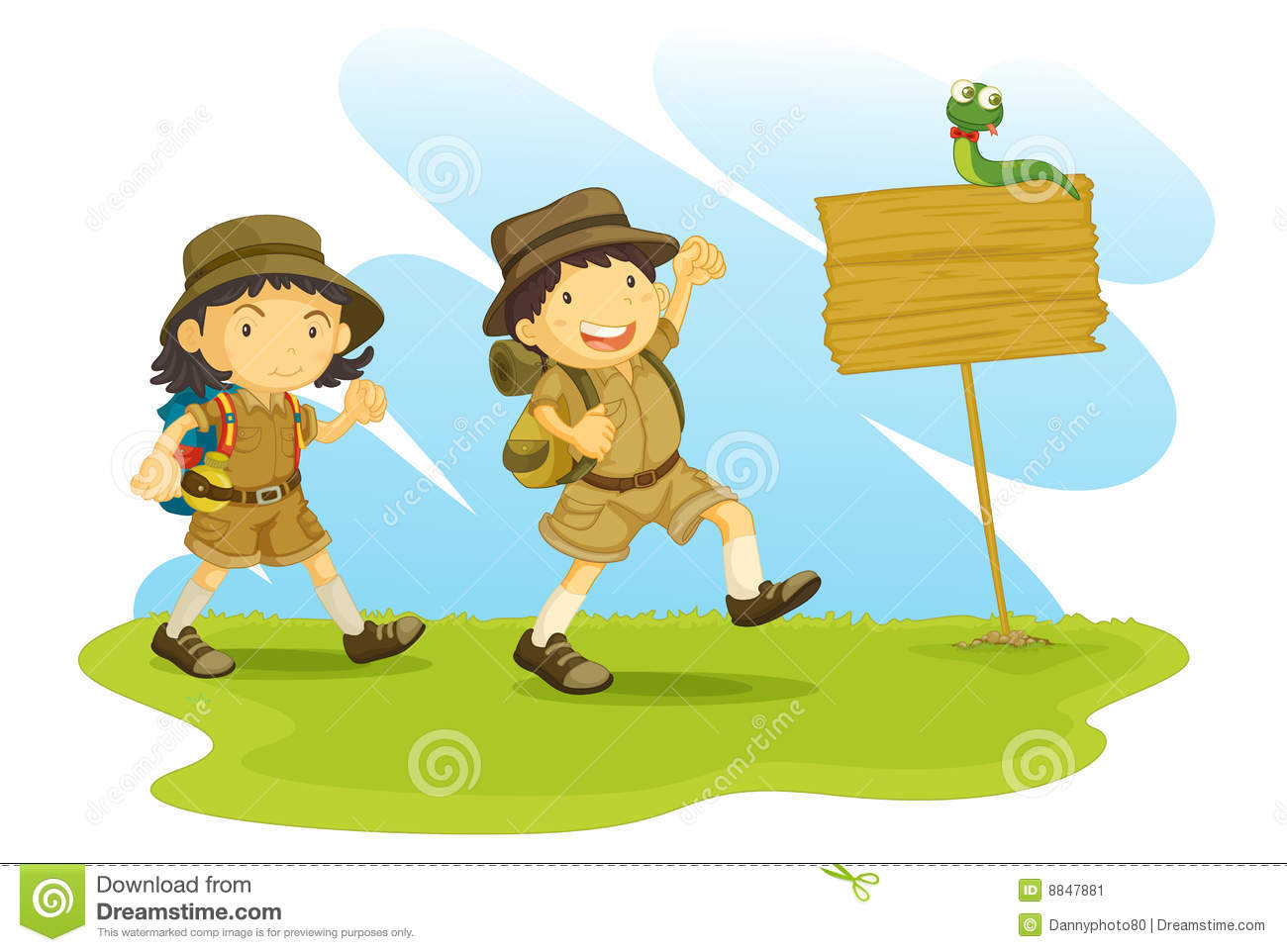 Kids going for a nature walk clipart graphic stock Nature walk clipart 4 » Clipart Station graphic stock