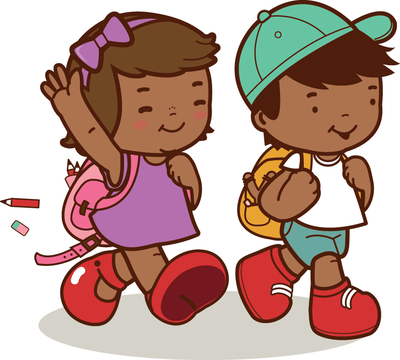 Kids going for a nature walk clipart free stock African American Kids Walk To School | Clipart | PBS ... free stock