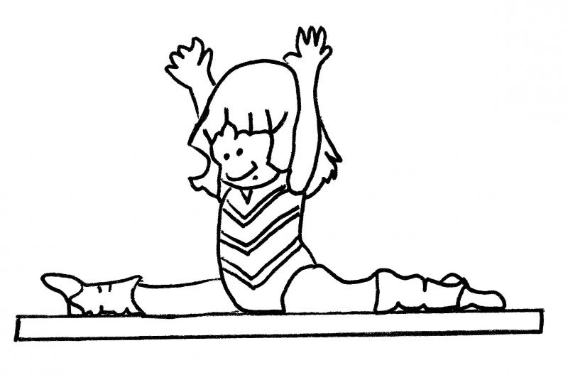 Kids gymnastics clipart black and white picture library Gymnastics Kids Clipart Black And White picture library