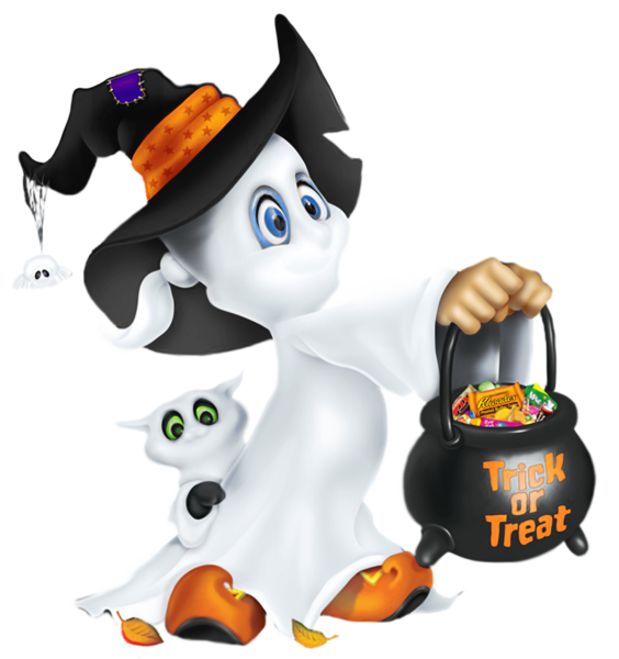 Kids halloween card transparent clipart clip art royalty free download Cute Halloween / Ghost by LOVEMAYU on DeviantArt | Halloween ... clip art royalty free download
