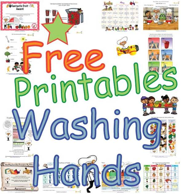 Kids hand washing clipart jpg free Hand Washing Printables and Worksheets For Children jpg free