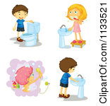 Kids hand washing clipart clipart freeuse Kids Cleaning Bathroom Clipart | Clipart Panda - Free Clipart Images clipart freeuse