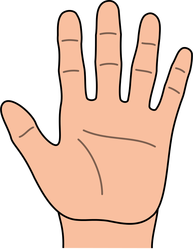 Kids hands clipart clip black and white stock Hands hand outline clipart kid | Kids church | Hand outline ... clip black and white stock