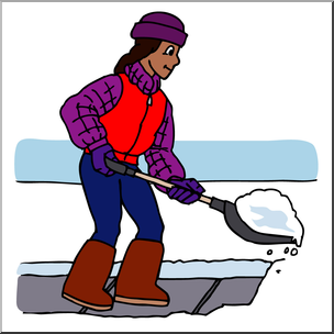 Kids helping shovel snow the snow clipart clip free download Clip Art: Kids: Chores: Shoveling Snow Color I abcteach.com ... clip free download