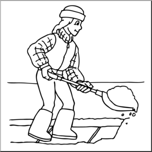 Kids helping shovel snow the snow clipart clip free download Clip Art: Kids: Chores: Shoveling Snow B&W I abcteach.com ... clip free download