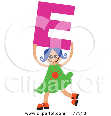 Kids holding alphabet letters clipart picture library download Royalty-Free (RF) Clipart Illustration of an Alphabet Kid Holding ... picture library download