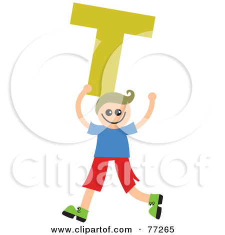 Kids holding alphabet letters clipart clip freeuse library Royalty-Free (RF) Clipart Illustration of an Alphabet Kid Holding ... clip freeuse library