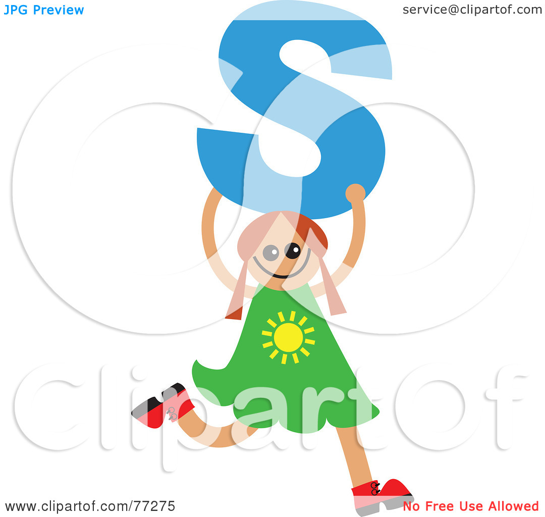 Kids holding alphabet letters clipart image freeuse Royalty-Free (RF) Clipart Illustration of an Alphabet Kid Holding ... image freeuse