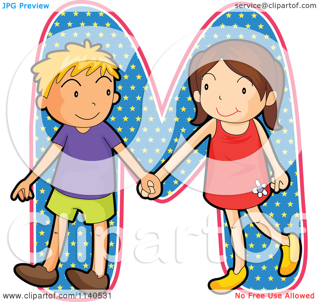 Kids holding alphabet letters clipart letter o clip free Cartoon Of Children Holding Hands Over The Letter M - Royalty Free ... clip free