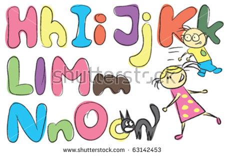 Kids holding alphabet letters clipart letter o jpg black and white stock Stock Images similar to ID 48042343 - doodle boy holding letter m jpg black and white stock