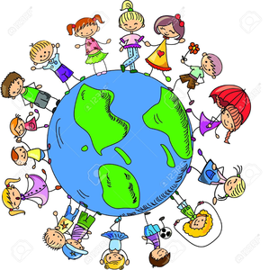 Kids holding hands around the world clipart vector free library Clipart Of Children Around The World Holding Hands | Free ... vector free library