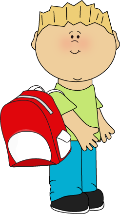 Kids holding hands backpacks on clipart svg royalty free stock Boy wearing a backpack from MyCuteGraphics | School Kids ... svg royalty free stock