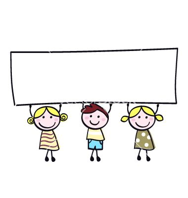 Kids holding sign clipart svg library download Children holding banner vector | CLIPARTS | Banner vector ... svg library download