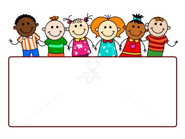 Kids holding sign clipart picture transparent Kids Holding Banner | Free vectors, illustrations, graphics ... picture transparent