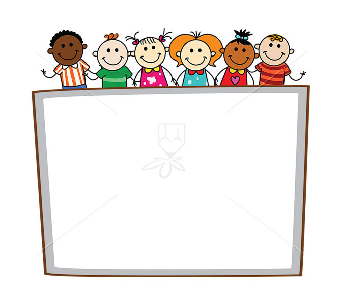 Kids holding sign clipart vector black and white library Kids Holding Banner | Free vectors, illustrations, graphics ... vector black and white library