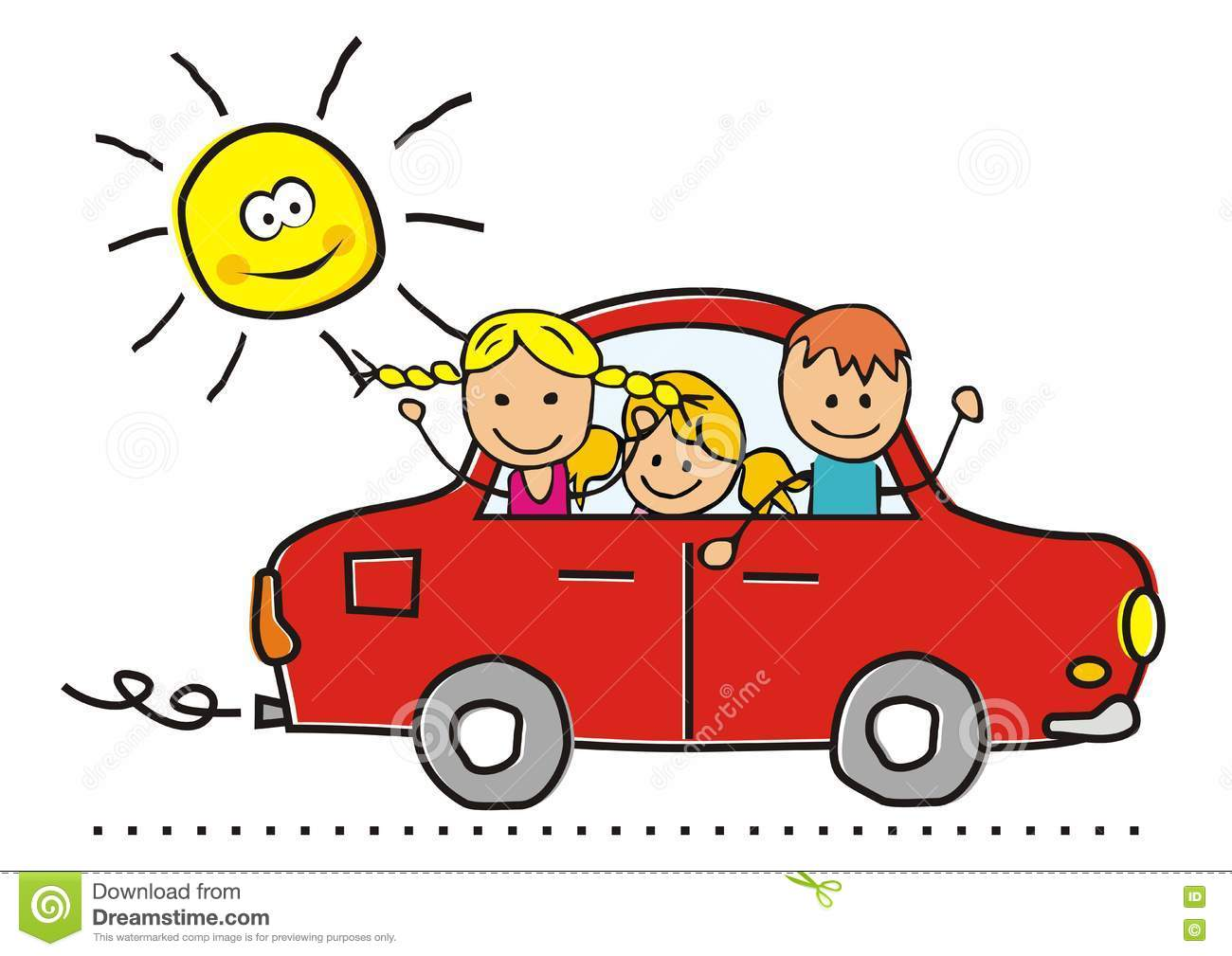 Kids in cars clipart royalty free download Kids In Car Clipart royalty free download