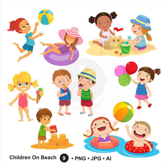 Kids in summer clipart picture transparent stock Kids Summer Clipart Clip Art Magic Creative Loveable 11 ... picture transparent stock