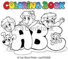Kids learning abc clipart banner black and white library Image result for kids learning abc clipart   Clipart   Pinterest ... banner black and white library