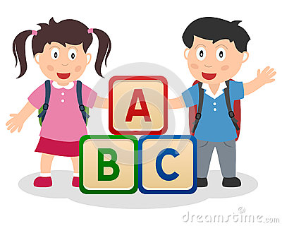 Kids learning abc clipart vector royalty free download ABC Kids Royalty Free Stock Image - Image: 16897616 vector royalty free download