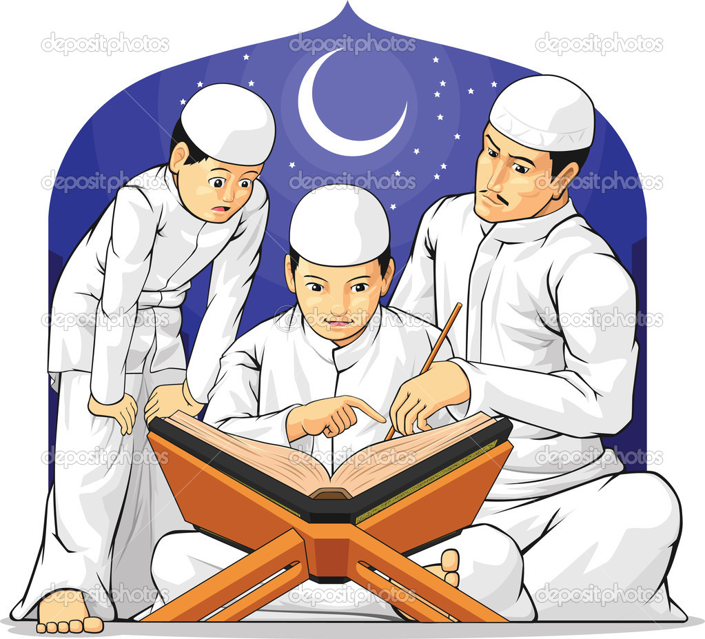 Kids learning arabic clipart png download Kids learning quran clipart - ClipartFest png download