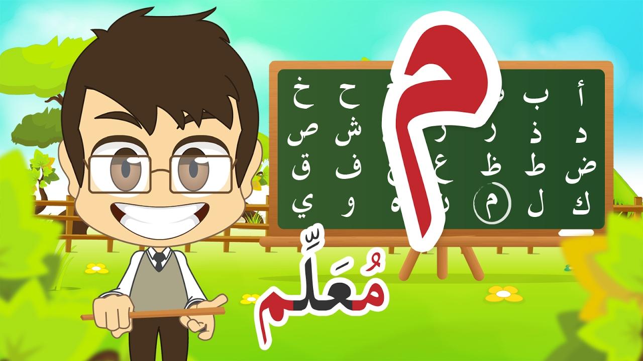 Kids learning arabic clipart banner freeuse download Learn Arabic Letter Meem (م), Arabic Alphabet for Kids, Arabic ... banner freeuse download