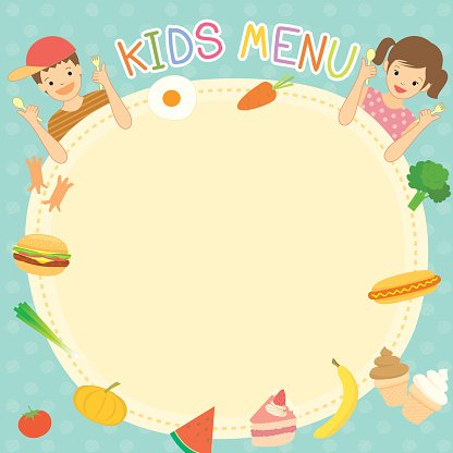 Kids menu clipart jpg library Kids Menu Template premium clipart - ClipartLogo.com jpg library