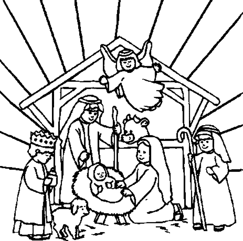 Kids nativity black and white clipart svg transparent library Free Nativity Scene Picture, Download Free Clip Art, Free ... svg transparent library