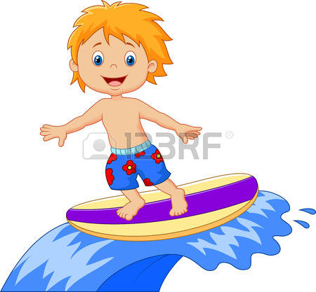 Kids on surfboard clipart clipart freeuse library 604 Surfing Kids Stock Vector Illustration And Royalty Free ... clipart freeuse library