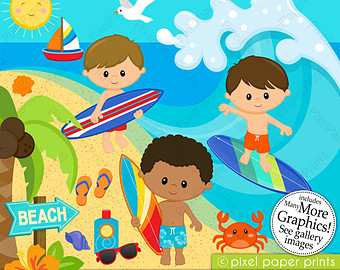 Kids on surfboard clipart vector library download Kids on surfboard clipart - ClipartFest vector library download