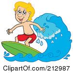 Kids on surfboard clipart picture free library Royalty-Free (RF) Surfing Clipart, Illustrations, Vector Graphics #1 picture free library