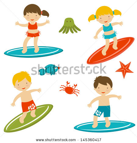 Kids on surfboard clipart png Kids on surfboard clipart - ClipartFest png