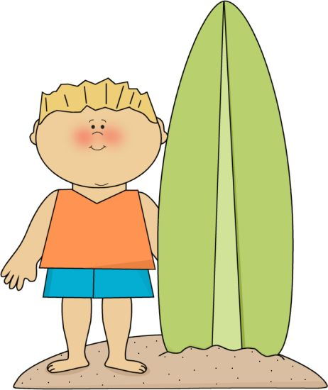Kids on surfboard clipart png royalty free library SUMMER BOY AND SURFBOARD CLIP ART | CLIP ART - SUMMER - CLIPART ... png royalty free library
