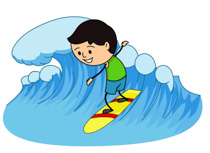 Kids on surfboard clipart free download Free Sports - Surfing Clipart - Clip Art Pictures - Graphics ... free download