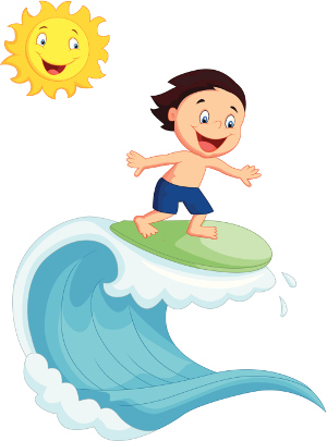 Kids on surfboard clipart jpg library library Surboard Clipart - Clipart Kid jpg library library