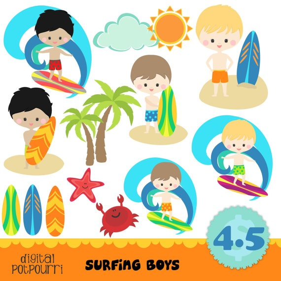 Kids on surfboard clipart clip art freeuse library 17 Best images about Surfers on Pinterest | Surf, Behavior charts ... clip art freeuse library