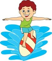 Kids on surfboard clipart png black and white Free Sports - Surfing Clipart - Clip Art Pictures - Graphics ... png black and white