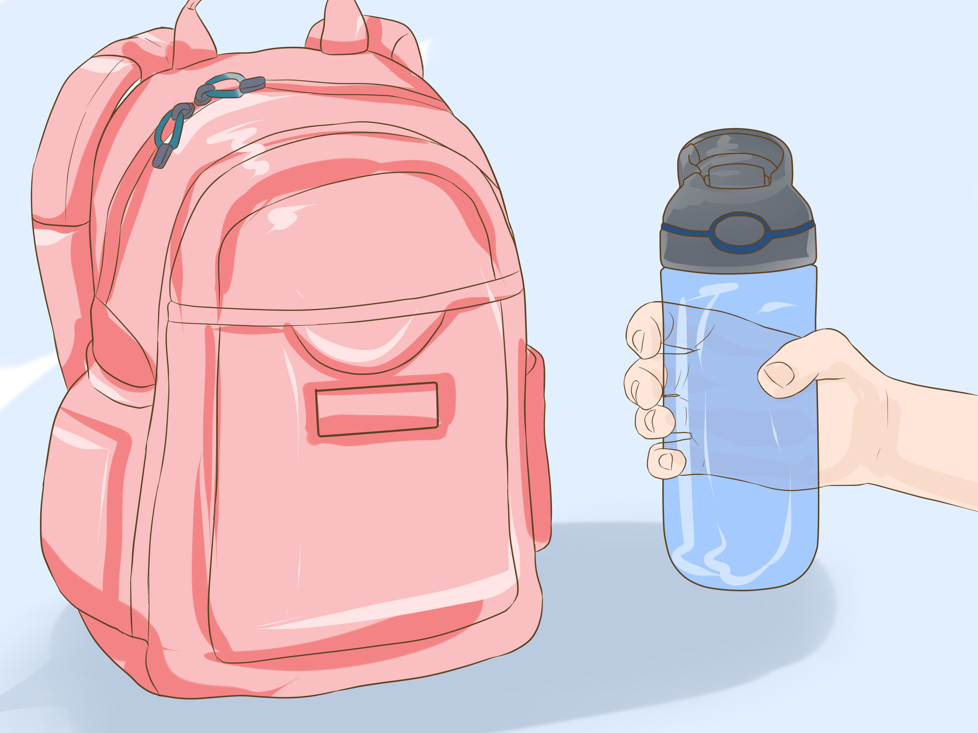 Kids pack backpack to go home clipart graphic black and white download How to Organize Your School Bag: 14 Steps - wikiHow graphic black and white download