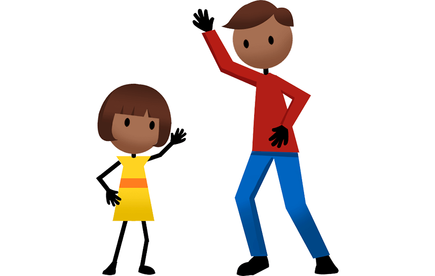 Kids physically standing up for parent clipart jpg free library Activities - Active For Life jpg free library