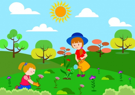 Kids planting flowers clipart jpg transparent download Vector man planting flowers free vector download (14,771 ... jpg transparent download
