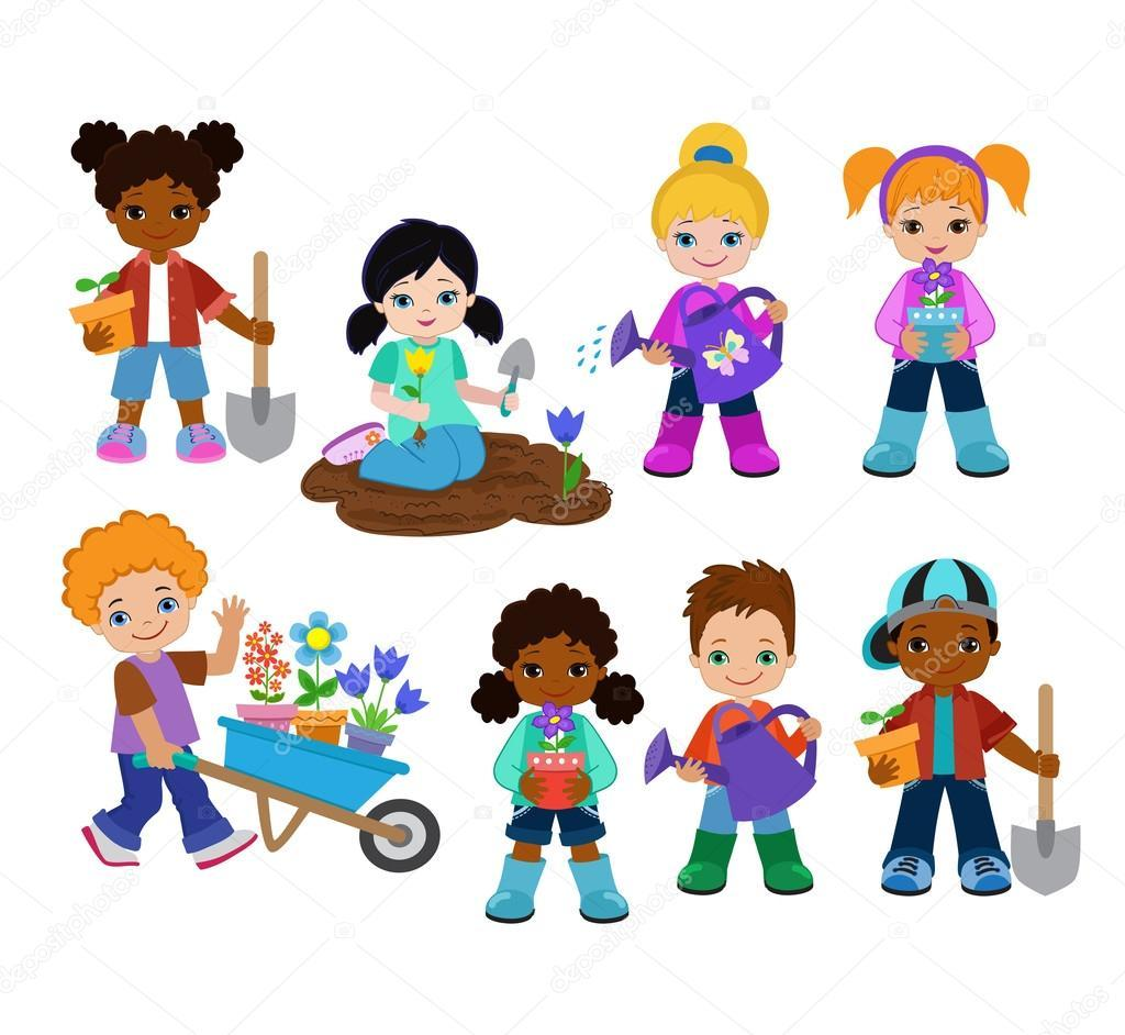 Kids planting flowers clipart jpg free library Kids planting flowers clipart 8 » Clipart Portal jpg free library