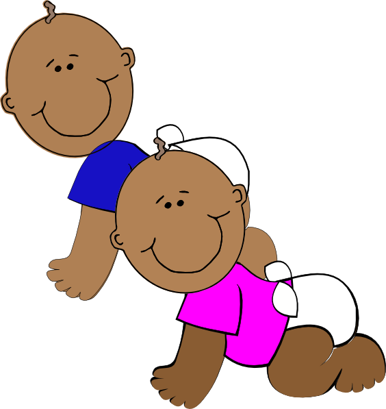 Kids playing american football clipart image royalty free African-american Twins Clip Art at Clker.com - vector clip art ... image royalty free