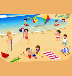 Kids playing at the beach clipart picture black and white library Beach Clipart Vector Images (over 2,100) picture black and white library