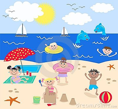 Kids playing at the beach clipart svg free stock 6+ The Beach Clipart | ClipartLook svg free stock