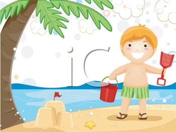 Kids playing at the beach clipart clip art library download iCLIPART - Royalty Free Clipart Image of a Child Playing in ... clip art library download