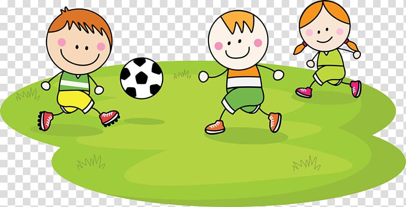 Kids playing soccer clipart picture freeuse library Three children playing soccer , Child Football Cartoon ... picture freeuse library