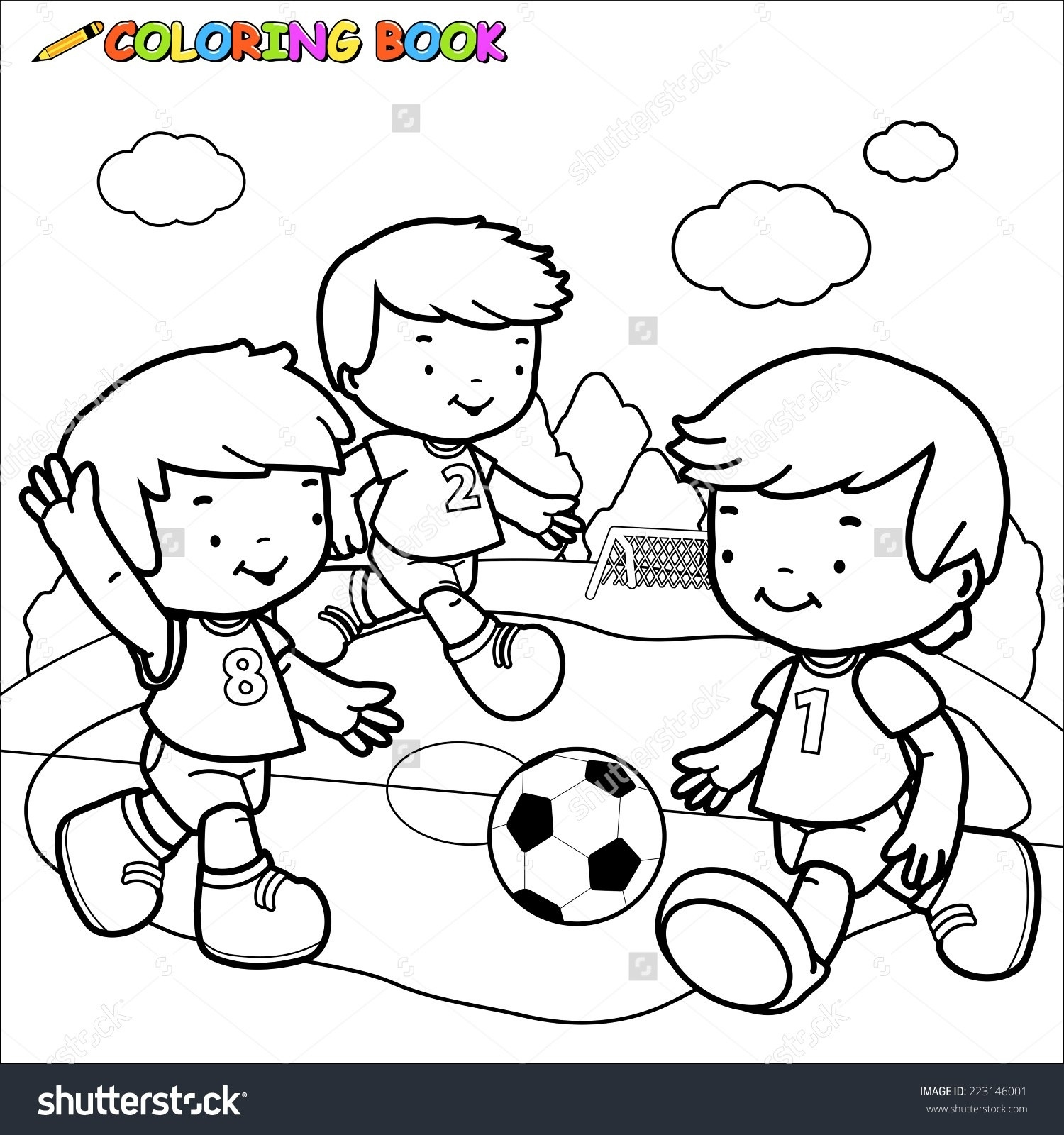 Kids playing clipart black and white image free Children Playing In The Park Clipart Black And White ... image free
